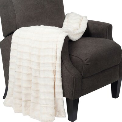 Garren Over Sized Double Sided Throw Blanket Color: Antique White
