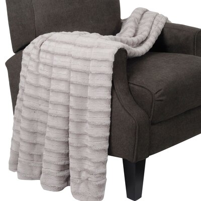 Derby Jumbo Over Sized Double Sided Throw Blanket Color: Light Gray