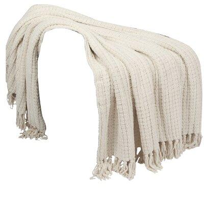 Mortensen Knitted Throw Blanket Color: String