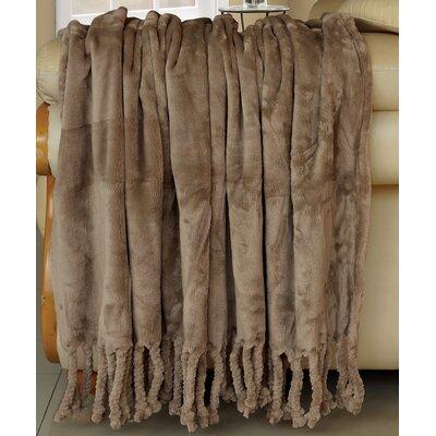 Flannel Fleece Braided Throw Color: Amphora
