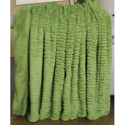 Air Brushed Colleen Faux Fur Throw Blanket Color: Dark Dirton Green