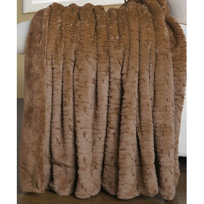 Air Brushed Colleen Faux Fur Throw Blanket Color: Amphora