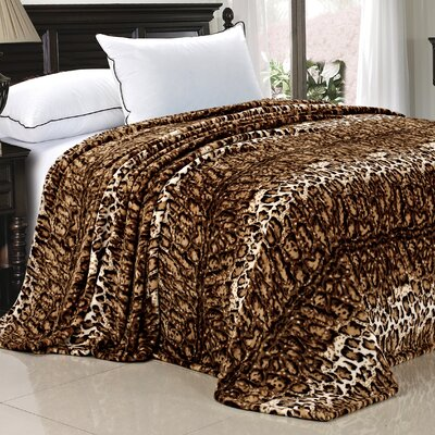 Safari Flannel Fleece Blanket Size: Twin