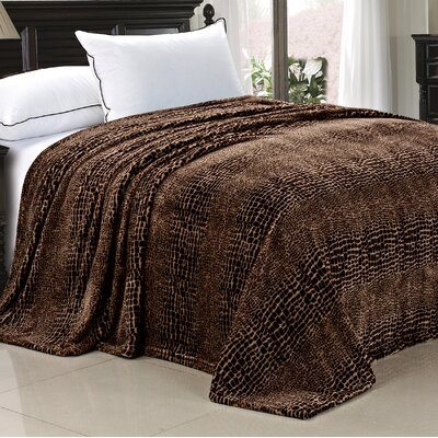 Safari Flannel Fleece Blanket Size: Queen