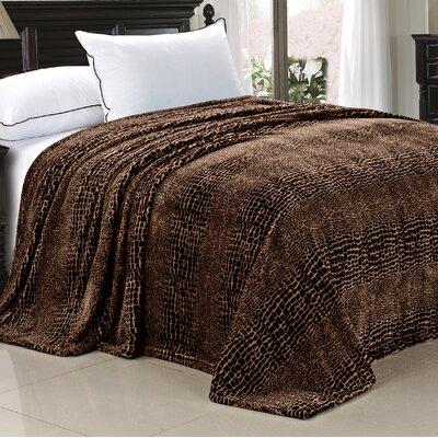 Safari Flannel Fleece Blanket Size: Twin