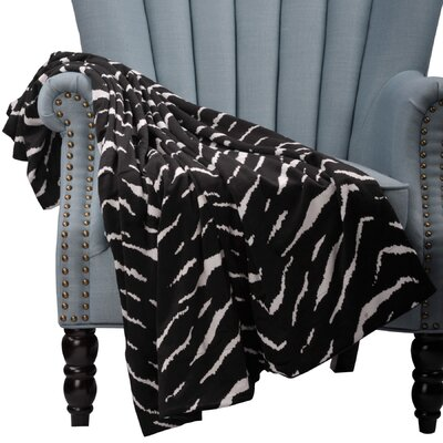 Farmington Zebra Microplush Throw Color: Black/White