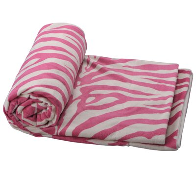 Farmington Zebra Microplush Throw Color: Pink/White