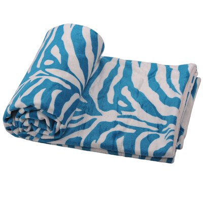 Farmington Zebra Microplush Throw Color: Pink/Chocolate