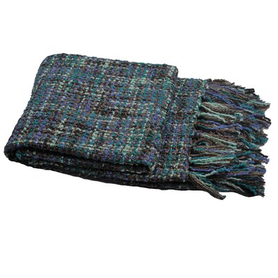 Ora Knitted Throw Color: Deep Teal, Size: 60 W x 80 L