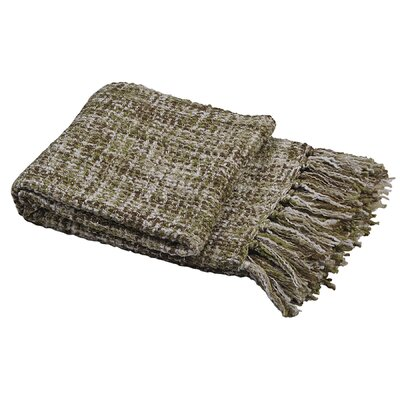 Ora Knitted Throw Color: Martini Olive, Size: 50 W x 60 L