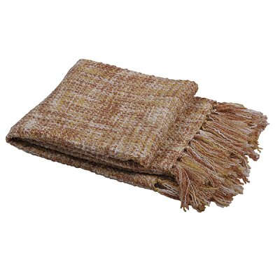 Ora Knitted Throw Color: Jojoba Yellow, Size: 50 W x 60 L