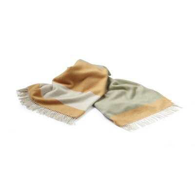 Lines Merino Wool Throw Color: Orange/Khaki