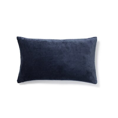 Plain Cotton Velvet Lumbar Pillow Color: Dark Denim