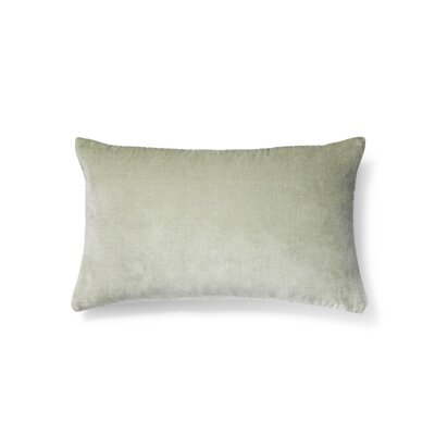 Plain Cotton Velvet Lumbar Pillow Color: Mint