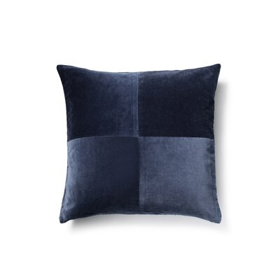 Cotton Velvet Throw Pillow Color: Dark Denim