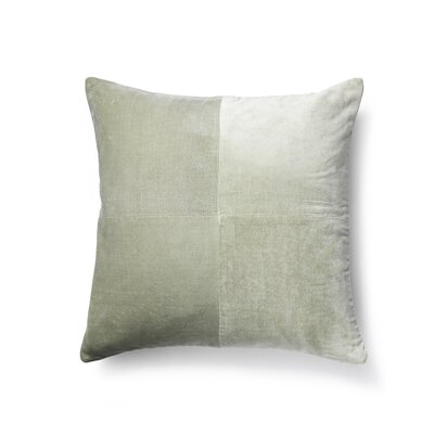 Cotton Velvet Throw Pillow Color: Mint