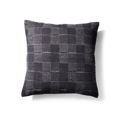 Silk/Cotton Throw Pillow Color: Gray