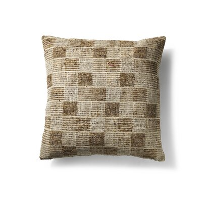 Silk/Cotton Throw Pillow Color: Beige