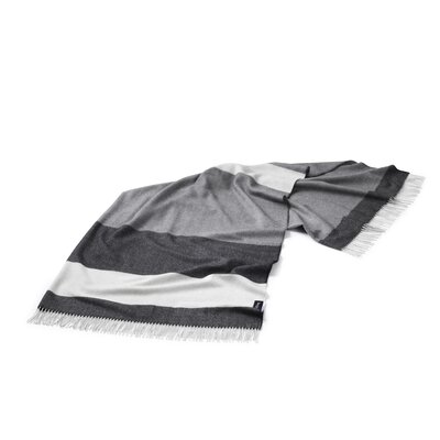 Lines Merino Wool Throw Color: Gray/Charcol