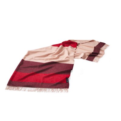 Lines Merino Wool Throw Color: Red/Burgundy