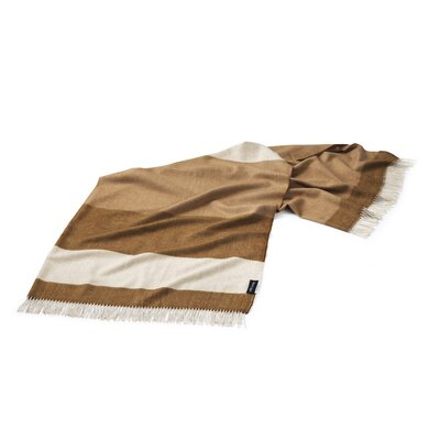 Lines Merino Wool Throw Color: Brown/Taupe