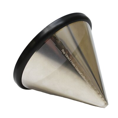 Washable and Reusable Stainless Steel Cone Coffee Filter 701980786952
