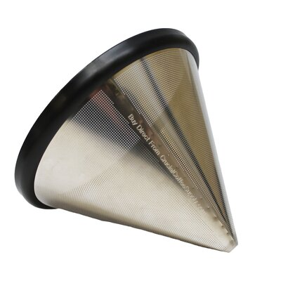 Washable and Reusable Stainless Steel Cone Coffee Filter 701980787355