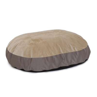 Donald Plush Euro Style Pouf Memory Foam Dog Bed Color: Chocolate / Toffee, Size: Large (46 L x 32 W)
