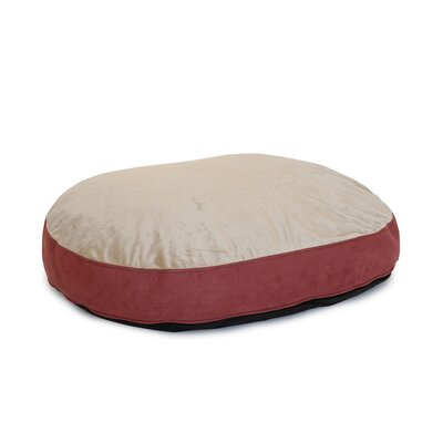 Plush Euro Style Pouf Memory Foam Dog Bed Color: Paprika / Toffee, Size: Large (46 L x 32 W)