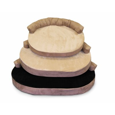 Orthopedic Memory Foam Joint Relief Bolster Dog Bed Color: Licorice, Size: Large (42 L x 32 W)
