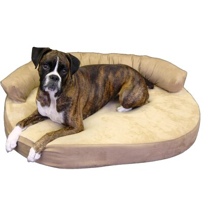 Orthopedic Memory Foam Joint Relief Bolster Dog Bed Color: Toffee, Size: Large (42 L x 32 W)