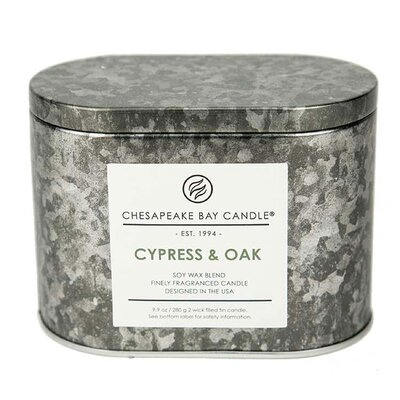 Heritage Double Wick Cypress and Oak Jar Candle PT18483