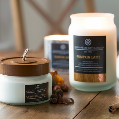 Chesapeake Bay Candle Hathorn Pumpkin Latte Glass Jar Candle