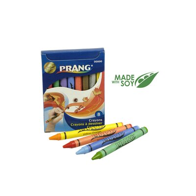 Crayons Made with Soy (Set of 4) Size: 8 Colors/Box DIX00000