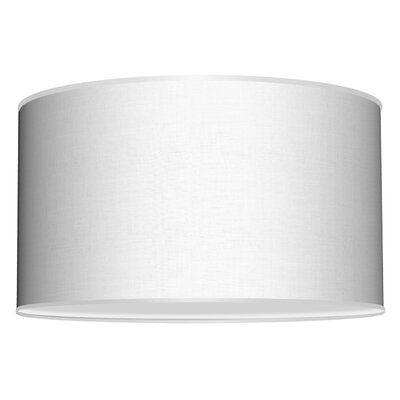 Three In One 3-Light Drum Pendant Shade Color: White