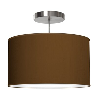 Thao 1-Light Drum Pendant Shade Color: Antique Copper, Size: 11 H x 24 W x 24 D