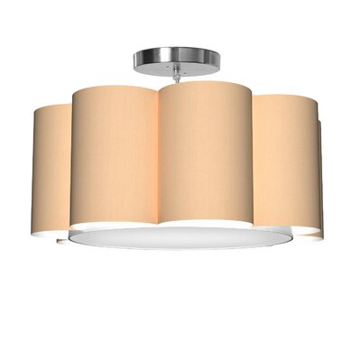Bloom 1-Light Drum Pendant Shade Color: Champagne