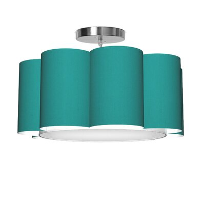 Bloom 1-Light Drum Pendant Shade Color: Turquoise