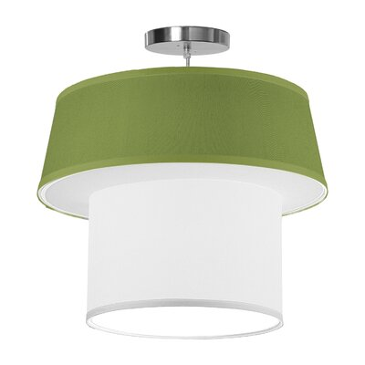 Clive 1-Light Drum Pendant Shade Color: Verde, Size: 22 H x 24 W x 24 D