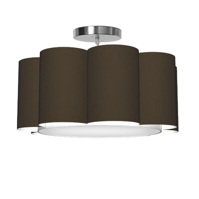 Bloom 1-Light Drum Pendant Shade Color: Chocolate
