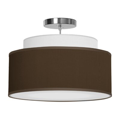 Abba 1-Light Drum Pendant Shade Color: Chocolate, Size: 12 H x 24 W x 24 D