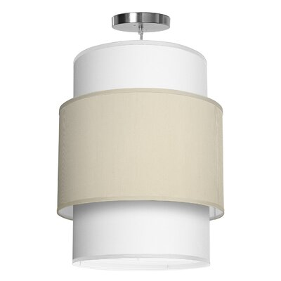 Evan 1-Light Drum Pendant Shade Color: Cream, Size: 30 H x 24 W x 24 D