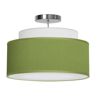 Abba 1-Light Drum Pendant Shade Color: Verde, Size: 12 H x 24 W x 24 D