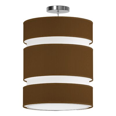 Lena 2-Light Drum Pendant Shade Color: Antique Copper, Size: 24 H x 20 W x 20 D