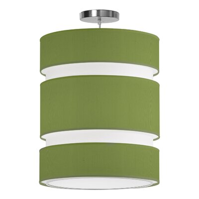 Lena 2-Light Drum Pendant Shade Color: Verde, Size: 24 H x 20 W x 20 D