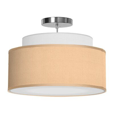 Abba 1-Light Drum Pendant Shade Color: Champagne, Size: 12 H x 24 W x 24 D