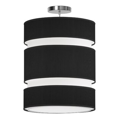 Lena 2-Light Drum Pendant Shade Color: Ebony, Size: 24 H x 20 W x 20 D