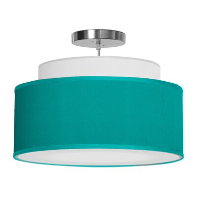 Abba 1-Light Drum Pendant Shade Color: Turquoise, Size: 12 H x 16 W x 16 D