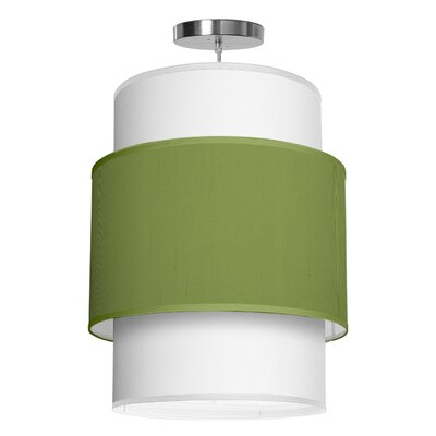 Evan 1-Light Drum Pendant Shade Color: Verde, Size: 30 H x 24 W x 24 D