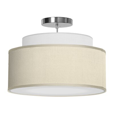 Abba 1-Light Drum Pendant Shade Color: Cream, Size: 12 H x 24 W x 24 D